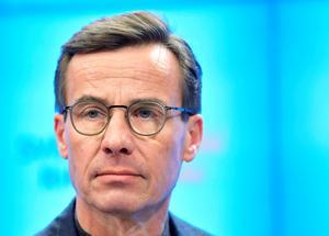 Känner sig sviken, M-ledaren Ulf Kristersson. Foto: Jessica Gow / TT