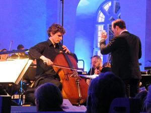 Cellisten Andreas Brantelid avsluta med Edward Elgars konsert för cello och orkester.Foto: Linda Hellstrand