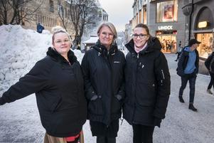 Fattigdomen breder ut sig i Östersund. Det konstaterar Ronja Näppä Hansson, Tina Sivertsson och Linda Drotty som driver Julhjälpen.