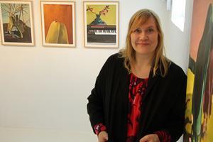 Karin Sandberg ställer ut på Svarta Gran i Borlänge. Foto: Ulf Lundén