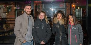 Alexander Ataseven, Alexandra Andersson, Julia Österberg och Sandra Horwat på Templet bar.
