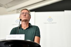 Anders Tegnell, statsepidemiolog vid Folkhälsomyndigheten, tror inte längre på en andra våg. Foto: Naina Helén Jåma/TT
