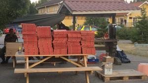 150 pizzor levererade till Lassekrog den 26 juli. Foto: Åsa Olsson