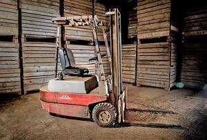 Den här trucken såldes för 45 år sedan till ett potatislager på Skaraslätten där den fortfarande tjänstgör.