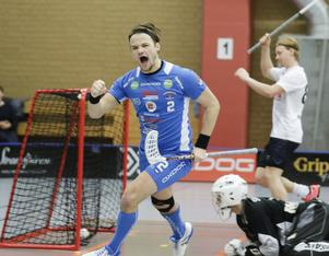 Emil Strandell gjorde sitt första mål för säsongen.