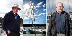 Båtfantasterna Björn Lauffs och Göran Persson avfärdar förslaget om båtskatt som nonsens. Foto: Ellinor Gotby Eriksson, Måna J Roos, Linus Chen Magnusson.