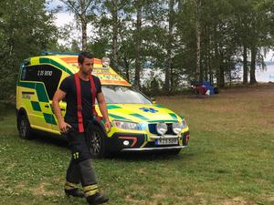 På onsdagseftermiddagen hittades en person i vattnet i sjön Bäsingen i Avesta kommun.