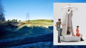 Äpple i rostfritt stål. Bigert&Bergströms  förslag på landmärke högst upp på Vivallakullen kommer att förverkligas  under 2018.