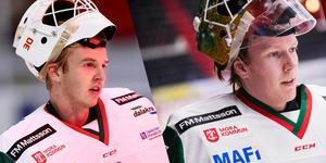 Olof Lindbom (vänster) och Isak Wallin (höger) har hittills fått lika delar matchförtroende av klubben.