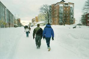 Södra Kungsgatan var avstängd och trafikerades av fotgängare.