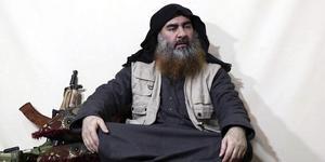Bild från en video som säger sig föreställa Abu Bakr al-Baghdadi. Foto: AP/TT
