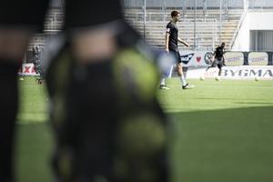 Viktor Tranberg gjorde sitt första träningspass med sina nya klubb på torsdagen.