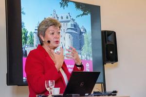 Arbetsmarknadsminister Ylva Johansson svarade på frågor om den nya reformen om nedskärningar inom arbetsförmedlingen