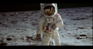 Neil Armstrong på månen 1969. Foto: Biografcentralen