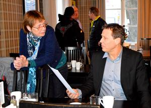 Ylva Behr bjöd in Thomas Källström och andra företagare till ett möte om turisttåget Turis den 5 februari.