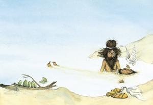 Johannes döpare.  Illustration av Marcus-Gunnar Petterssons i  nya
