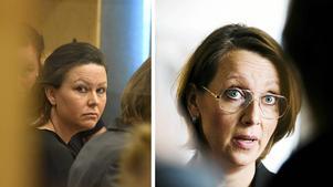 Amanda Hikes, till höger, har försvarat Johanna Möller i både tingsrätten och i hovrätten.