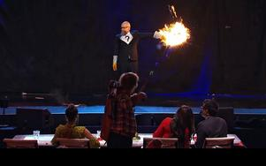 Alevxander Bard tycktes vara den som minst uppskattade uppträdandet. Foto: TV4