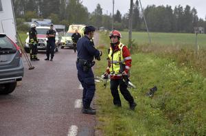 Moras räddningschef Johan Szymanski vid tisdagens dödsolycka i Venjan.