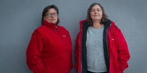 Monica Andersson, facklig företrädare för Kommunals Avesta-sektion, och Anne Axelsson, arbetsplatsombud/skyddsombud på Krylbo hemtjänst.