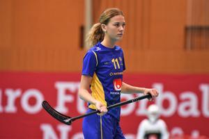 Mathilda har varit på flertalet landslagsuttagningar med U19. Foto:  Bosse Grängsjö