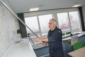 Platschefen Rolf Rubensson var ansvarig för ett av landets första riktigt stora vindkraftsparksbyggena i Havsnäs för snart tio år sedan.