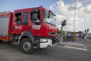 44 brandbilar rullade in i Sveg,