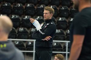 Mattias Norlinder var på plats men deltog inte i alla övningar.