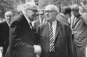 Max Horkheimer och Theodor Ardorno 1964. Foto: Jeremy J. Shapiro