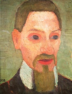 Rainer Maria Rilke, porträtt av Paula Modersohn-Becker från 1906.