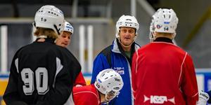 Michael Bratt, tränare Västanfors IF, Fläkten Foto: Jörgen Hjerpe/Västanfors bandy