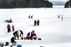 Främby udde är en populär startplats för skridskosugna.
