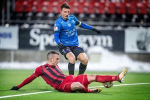 Dino Islamovic under fredagens match mot Trelleborg.