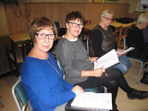 I förgrunden Yvonne Andersson och Gunilla Eriksson.