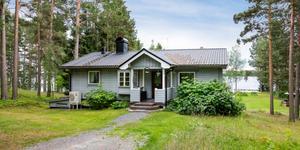 Huset i Funäs har en boarea på 70 kvadratmeter. Foto: Storsjömäklarna