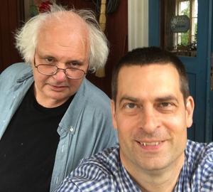 Göran Greider och Robert Sundberg, de yrkesverksamma på Dala-Demokratens ledaravdelning.