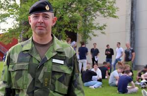 Tobias Hagstedt, bataljonschef vid Skaraborgs regemente.