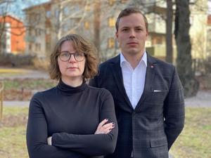 Elin Norén (S) och Sebastian Karlberg (S). Foto: Socialdemokraterna
