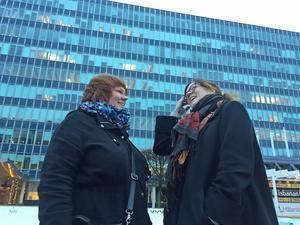 Kicki Söderback, länsstyrelsen, och Anna Jägvald, Västerås stad, vill uppmärksamma centrumomvandlingen i Västerås som startade under 1950-talet.