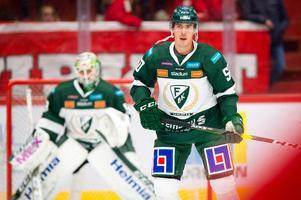 Sebastian Erixon i SHL-matchen mot Timrå i NHK Arena 27 september. Bild: Pär Olert/Bildbyrån