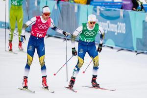 Marcus Hellner och Calle Halfvarsson tog Sverige vidare till final även på herrsidan. Bild: Petter Arvidson/Bildbyrån