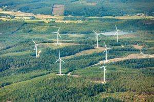 Många nya vindkraftverk planeras i Dalarna.