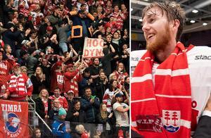 Henrik Haukeland öser beröm över Timrås fans. Foto: Bildbyrån.
