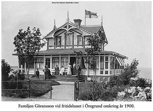 Framsidan av Göranssonska villan. Bild: Fotograf okänd