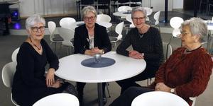 Gunilla Dahlin Monica Åhling, Karin Nordin och Elisabeth Pettersson kom från Kramfors för att se Maria Lundqvist.