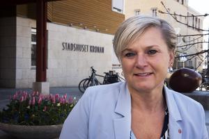 Anna-Belle Strömberg blir nog kvar i sin vanliga arbetsplats, stadshuset Kronan.