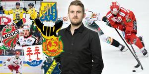 Viktor Hertzberg var ett av tre nyförvärv till VIK. Även SSK, Modo och Timrå fyllde på med bra spelare under veckan. Foto: Bildbyrån