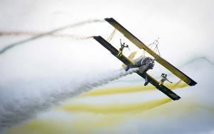 Catwalk/wingwalk med Scandinavian Airshow. Foto: Mikael Forslund.