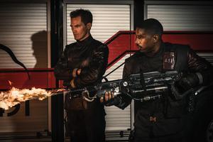 Michael Shannon spelar kapten Beatty och Michael B Jordan Guy Morgan i HBO:s nyinspelning av Ray Bradburys