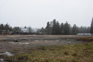 Här, där Bålbroskolan stod, ska den nya skolan och kulturscenen byggas.